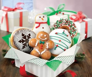 christmas, Cookies, and donuts image