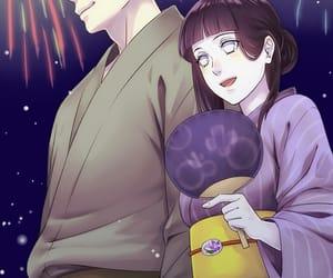 anime, fireworks, and hinata image