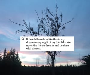 Dream, feelings, and nature image