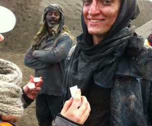 richard harmon, the 100, and the 100 bts image