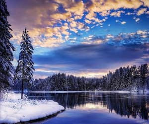 nature, sky, and snow image