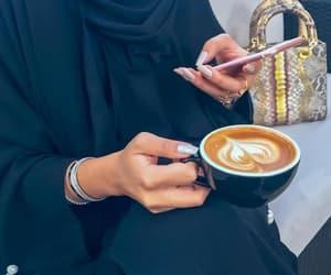 coffee, hijab, and nails image