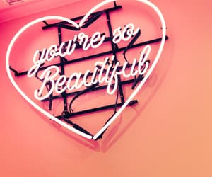 neon lights and you are beautiful image