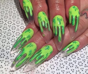 nails, green, and slime image