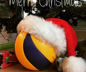 christmas, merry christmas, and volleyball image