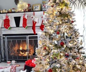 christmas lights, christmas tree, and happiness image