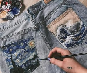 jeans and painting image
