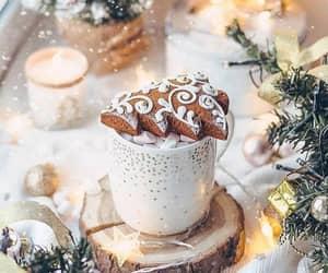 christmas lights, cozy, and happiness image