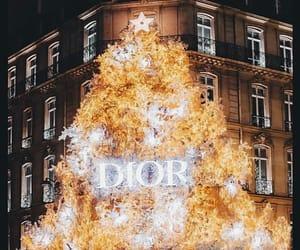 christmas tree, cities, and dior image