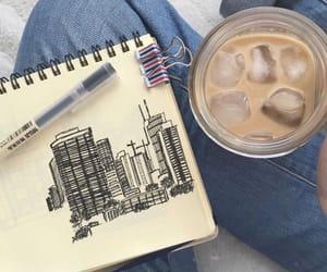 art, coffee, and tumblr image