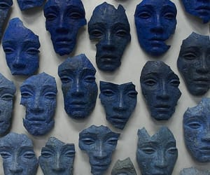 blue, mask, and aesthetic image