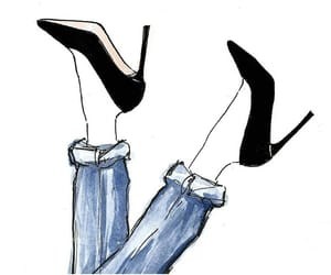 art, drawing, and high heels image