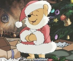 christmas, merry christmas, and winnie the pooh image