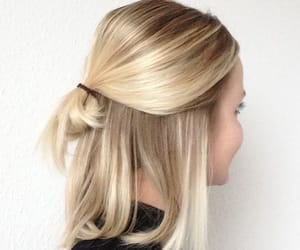 blonde, hair, and short image