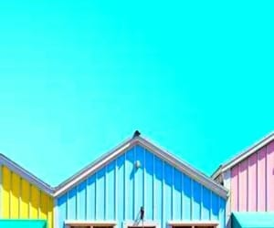 beach house, blue green, and bright image