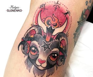 pink, tattoo, and cute image