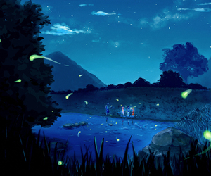 naruto, anime, and night image