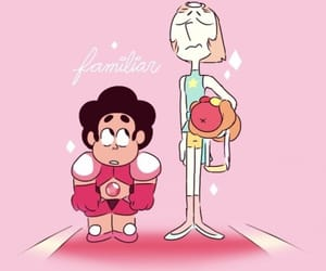 pearl, steven, and steven universe image