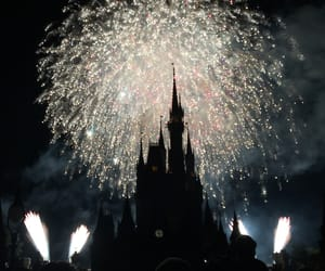 disneyland, fireworks, and photography image