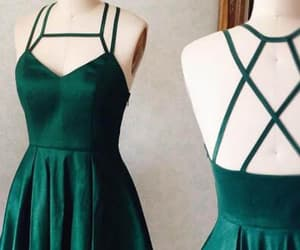 cute prom dress, prom dress short, and green homecoming dresses image