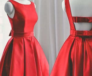 cute prom dresses, red homecoming dress, and a-line prom dresses image