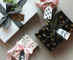 favourite, polka dots, and christmas presents image