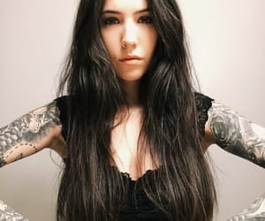 aesthetic, brunettes, and portrait image