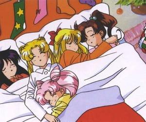 sailor moon, anime, and christmas image