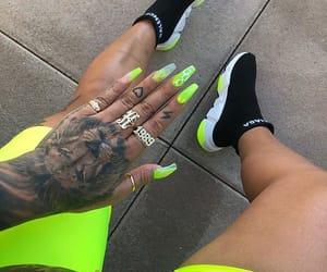 Balenciaga, green, and nails image