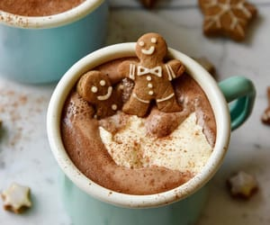 chocolate, Cookies, and drink image
