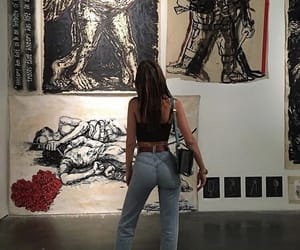 art, model, and love image