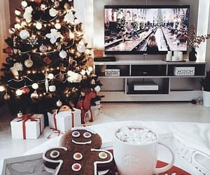 christmas, cookie, and hot cocoa image