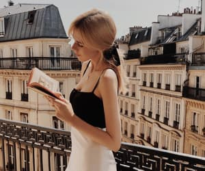 girl, book, and france image