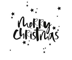 black, white, and christmas image