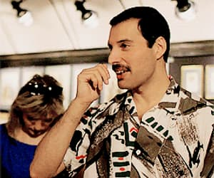 Freddie Mercury, funny, and iconic image
