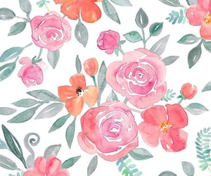 Fleurs, flowers, and rose image