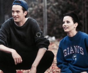 chandler bing, couple, and monica geller image