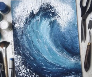 blue, art, and water image