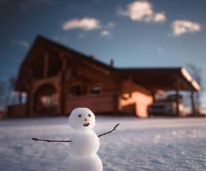 christmas, snow, and home image