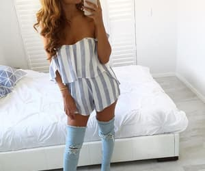 blue, casual, and heels image