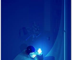 anime, blue, and light image