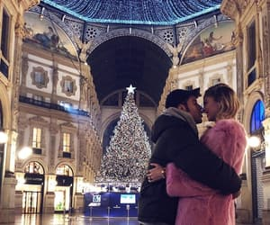 christmas, couple, and december image