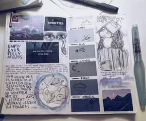 art, art journal, and blue image