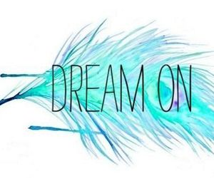 Dream, blue, and feather image