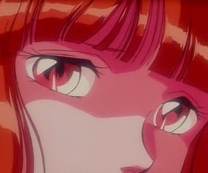 anime, girl, and red aesthetic image