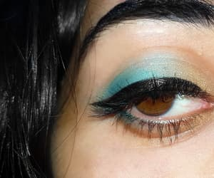 brown eye, aesthetic, and blue image