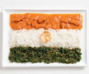 flag, india, and food image