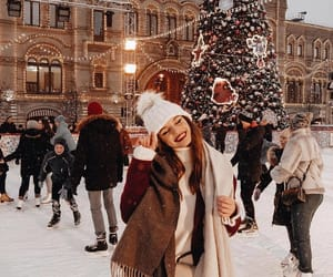 christmas, fashion, and snow image
