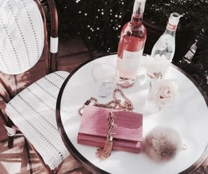 pink, rose, and drink image