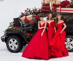 christmas, dress, and girl image